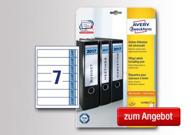 Avery Zweckform Ordnerrückenetikett 2017