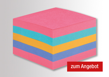 Post-it Haftnotizwürfel Super Sticky Rainbow Collection