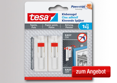 tesa® Klebenagel Tapete, Putz