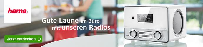 Hama - Gute Laune im Büro mit unseren Radios
