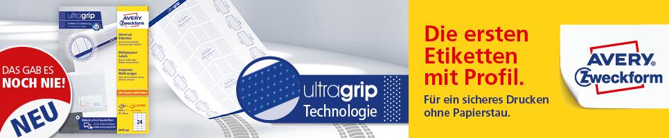 Avery Zweckform Universal Etiketten mit ultragrip Technologie