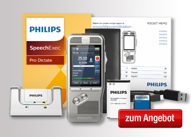 Philips Diktiergerät Digital Pocket Memo DPM 8000