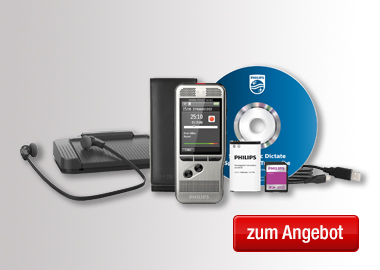 Philips Diktiergerät Digital Pocket Memo Starter Kit DPM 6700