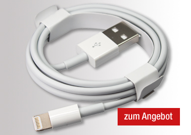 Apple USB-Kabel USB-A-Stecker/Lightning-Stecker