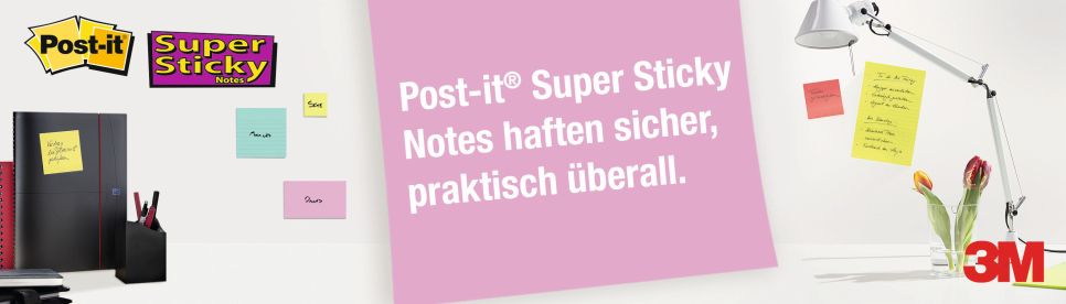 Post-it® Haftnotizen Super Sticky
